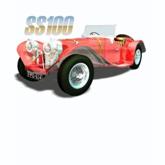 Cult Cars - Jaguar SS100 shirt