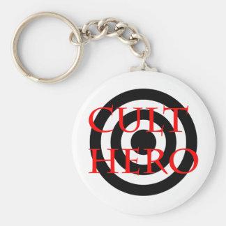 Cult Hero in Red Basic Round Button Keychain