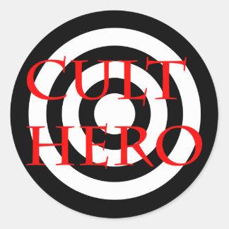 Cult Hero in Red Classic Round Sticker