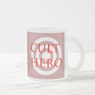 Cult Hero in Red Frosted Glass Coffee Mug