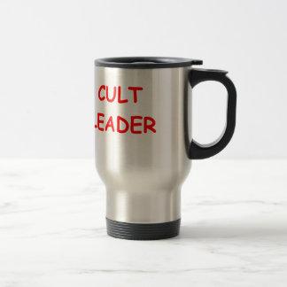cult leader 15 oz stainless steel travel mug