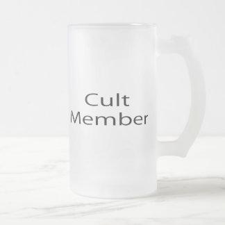 Cult Member Frosted Glass Beer Mug