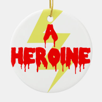 Cult Movie Heroine Double-Sided Ceramic Round Christmas Ornament