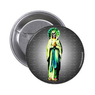 Cult Of Santa Muerte 2 Inch Round Button