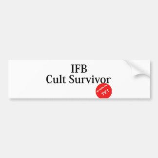 Cult survivor bumper sticker