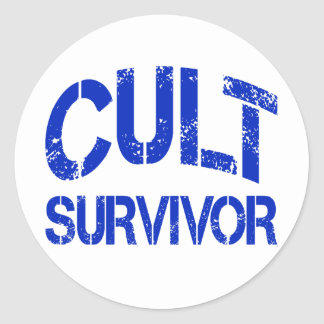 Cult Survivor Round Stickers