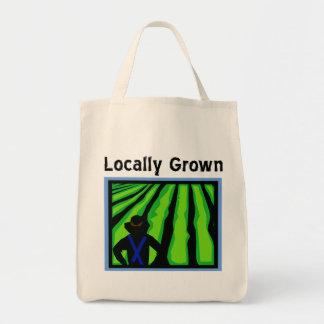 Cultivado localmente bolsa tela para la compra