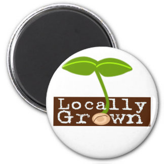 Cultivado localmente imán redondo 5 cm