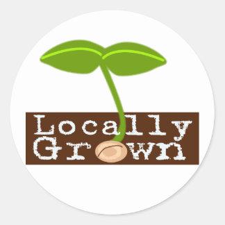 Cultivado localmente pegatina