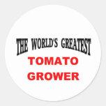 Cultivador del tomate pegatinas