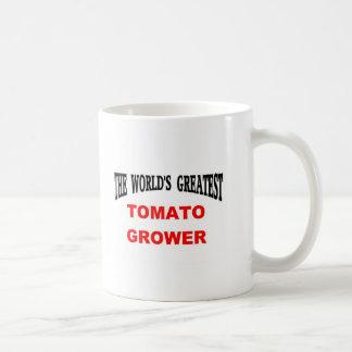 Cultivador del tomate taza básica blanca