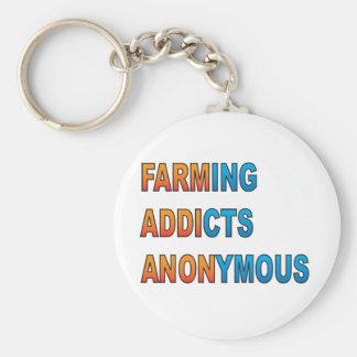 Cultivando a los adictos anónimos llavero redondo tipo pin