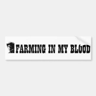 Cultivando en mi sangre, el regalo para un granjer pegatina para auto
