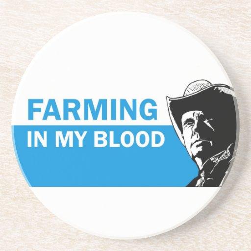 Cultivando en mi sangre, el regalo para un granjer posavasos manualidades
