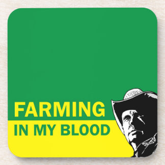Cultivando en mi sangre, el regalo para un granjer posavasos de bebidas
