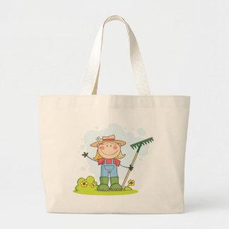 Cultivando un huerto o chica de cultivo bolsas de mano