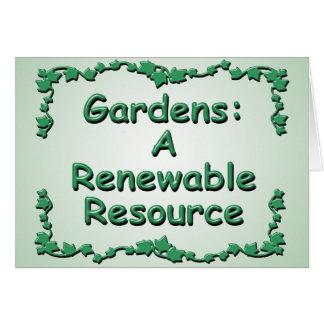 Cultivando un huerto, un recurso renovable tarjetas