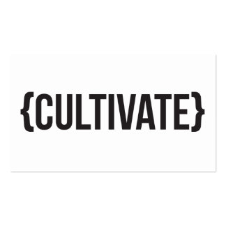 Cultivate - Bracketed - Black and White Double-Sided Standard Business Cards (Pack Of 100)