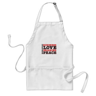 Cultivate Kindness Love Sharing Peace Adult Apron