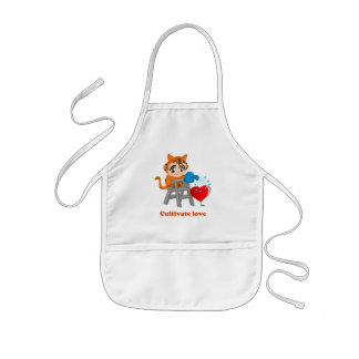 Cultivate love to you kids' apron