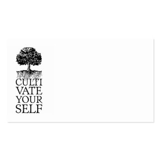 Cultivate Yourself Tree Double-Sided Standard Business Cards (Pack Of 100)