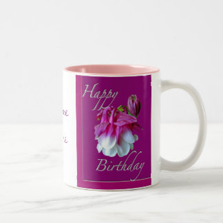 Cultivated Columbine Birthday Mug Personalize
