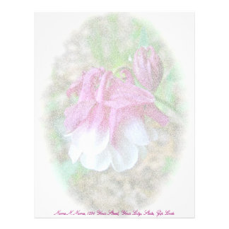 Cultivated Columbine Letterhead Pink