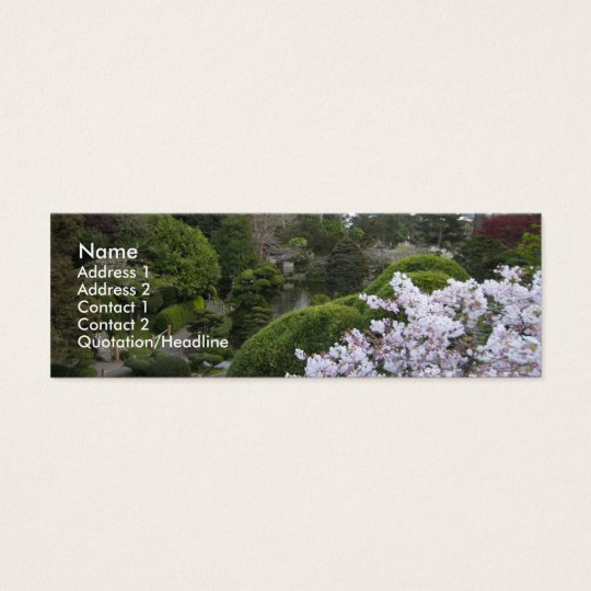 Cultivated garden profile card