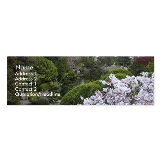 Cultivated garden profile card mini business card