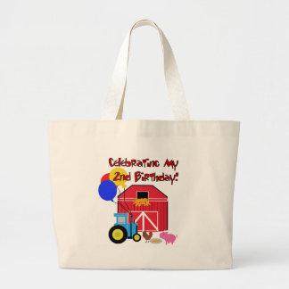 Cultive el 2do cumpleaños bolsas lienzo