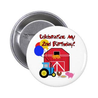 Cultive las 2das camisetas y regalos del cumpleaño pin redondo de 2 pulgadas