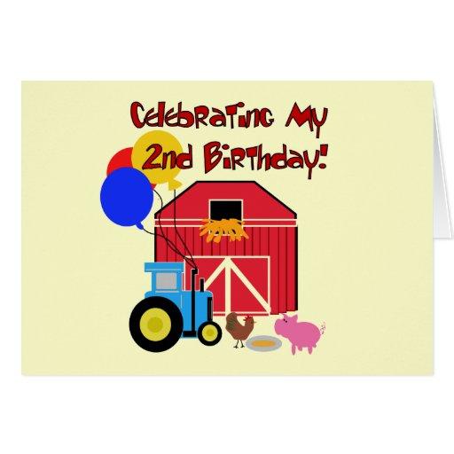 Cultive las 2das camisetas y regalos del cumpleaño tarjeta de felicitación