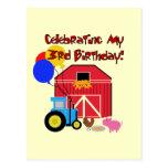 Cultive las 3ro camisetas y regalos del cumpleaños postal