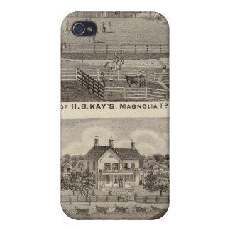 Cultive las residencias de la HB Kay y YA Glenn iPhone 4 Cárcasas