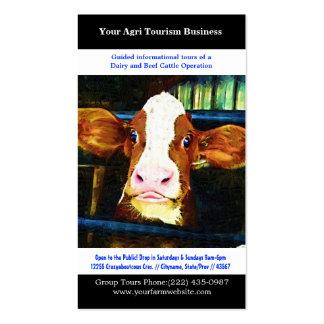 Cultivo agrícola de la carne de vaca de la lecherí tarjeta de visita