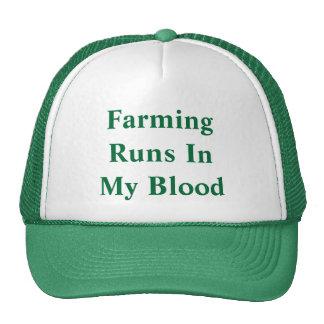 Cultivo de funcionamientos en mi sangre gorras de camionero