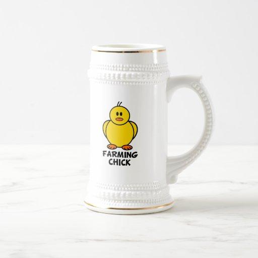 Cultivo del polluelo tazas de café