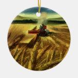 Cultivo del trigo del vintage ornamentos de navidad