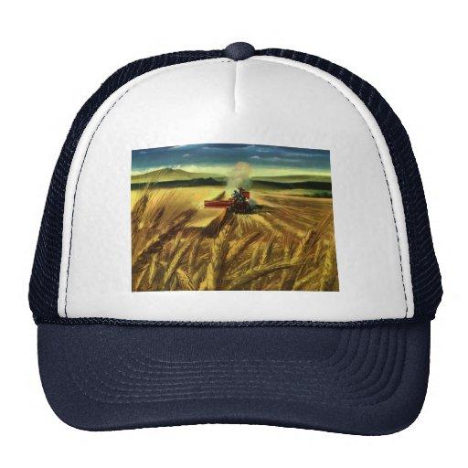 Cultivo del trigo del vintage gorros