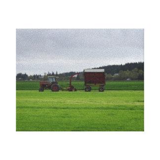 Cultivo del valle de Skagit Lienzo Envuelto Para Galerías