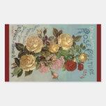 Cultivo subió de los rosas 1894 de la herencia del rectangular altavoces