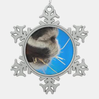 cultivo trasero del azul del heno de la adorno de peltre en forma de copo de nieve