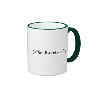 Cultivo un huerto, por lo tanto estoy tazas de café