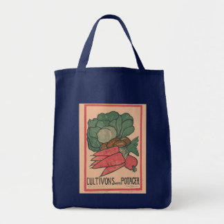 Cultivons Notre Potager Grocery Tote Bag