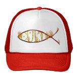 Culto de los pescados gorros bordados