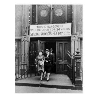 Culto de oración de la sinagoga el día D el 6 de Postal
