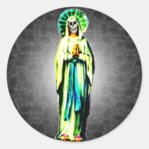 Culto de Santa Muerte Pegatina Redonda
