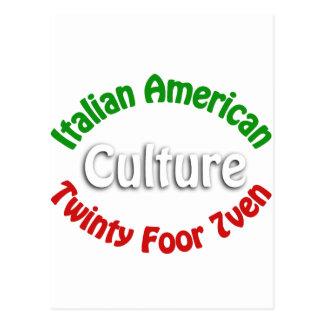Cultura americana italiana postal