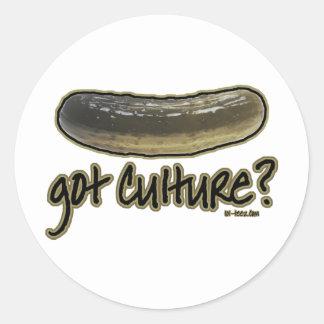 ¿Cultura conseguida? Pegatina Redonda