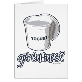 ¿Cultura conseguida? Yogur Tarjeta De Felicitación